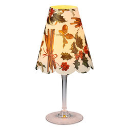 3 Lampshades Christmas Holly