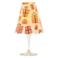 3 lampshades for wine glass - gifts