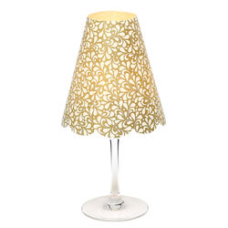3 lampshades for wine glass - small gold leaves