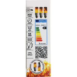 Small Flame Effect bulb - white socket