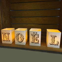 DIY Paper lanterns without LED candles - Christmas - Baroque writing style