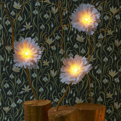 LED luminous flower - large white Peony