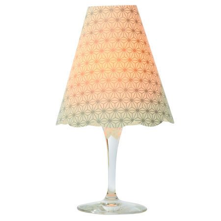 3 lampshades for wine glass - silver diamonds