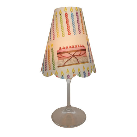 3 lampshades for wine glass - birthday
