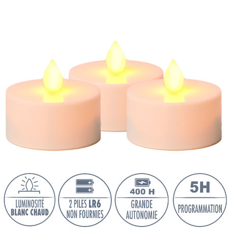 3 candle holders for DIY - H 11,5 cm