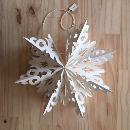 Star made in white paper ready to hang - h 27 cm