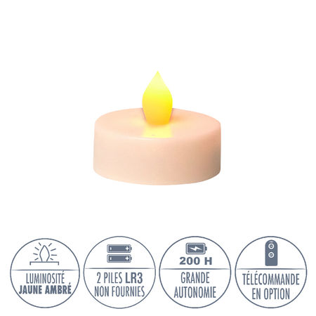 House Candle Holder + LED tealight - H 15cm