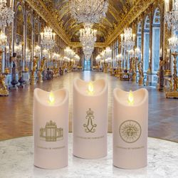 LED candle with moving flame - The Gate of the Versailles Palace - H15CM