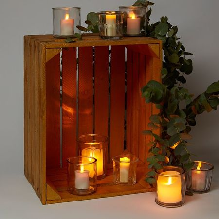 Candle holder made in glass - h 10 cm