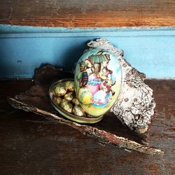 Easter Egg made in paper - traditional design # 3 - h 12 cm | Easter Decoration