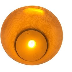 LED candle holder Gold Ellipses - H 9 cm