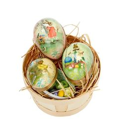 Easter Egg made in paper - traditional design # 3 - h 9 cm