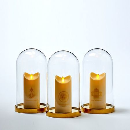 LED candle with moving flame - The Sun Face of the King Louis 14 - H15CM