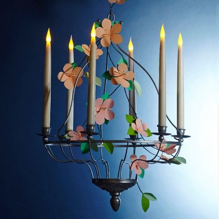 Bougie chandelle LED flambeau - programmation 6h / H31cm