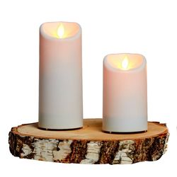 Outdoor LED candle with moving flame - White - H12.5CM