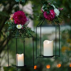 Outdoor LED candle with moving flame - White - H17.5CM