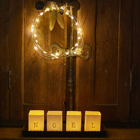 DIY Paper lanterns without LED candles – NOEL - modern design