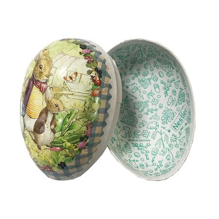 Easter Egg made in paper - Beatrix Potter's design # 5  h 12 cm