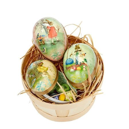 Easter Egg made in paper - traditional design # 1 bis - h 12 cm