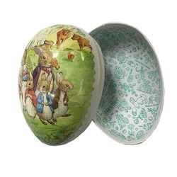 Easter Egg made in paper - Beatrix Potter's design # 3   h 12 cm