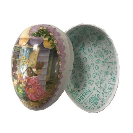 Easter Egg made in paper - traditional design # 7 - h 9 cm