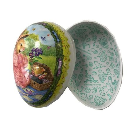 Easter Egg made in paper - traditional design # 10 - h 9 cm