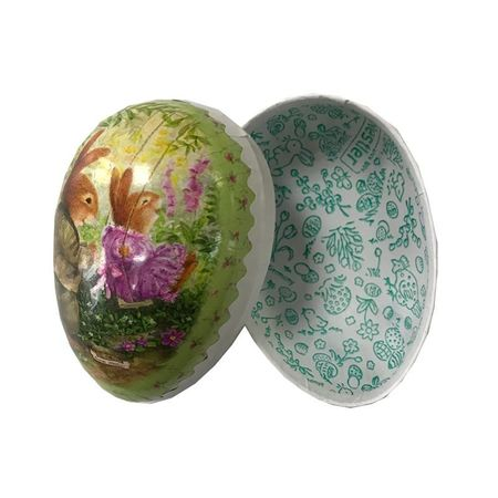 Easter Egg made in paper - traditional design # 11 - h 9 cm