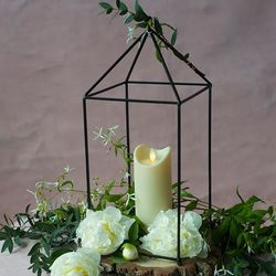 LED candle with moving flame -Ivory- H15CM