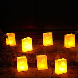 5 Mandala lanterns without LED candle - H15cm