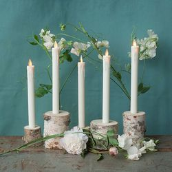 Birch tree holder for LED candles  Ø 5,5 cm; height: 6 cm
