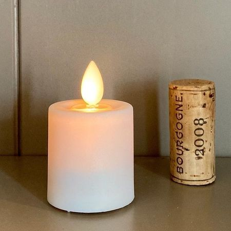Mini LED candle with moving flame - Baroque Cross #2
