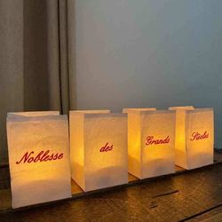 Photophore LED personnalisable - Message