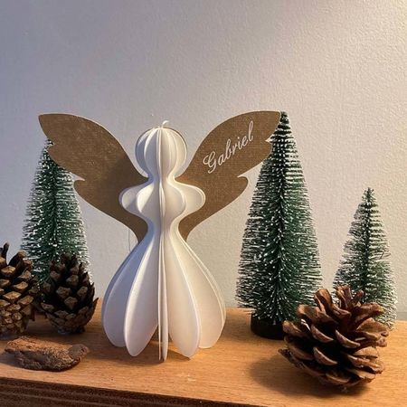 Small paper Angel - white and gold