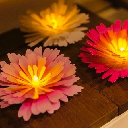 LED luminous flower - large pink peony