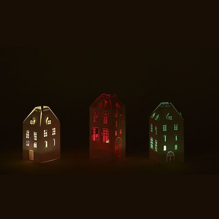 House Candle Holder - H 15cm - without LED candle