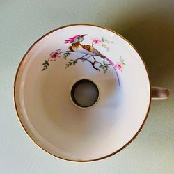 cup turned into candleholder - Vintage