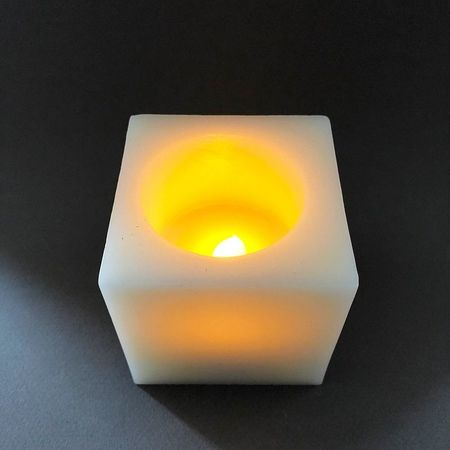 LED candle in wax - Thank You