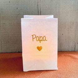 "led paper lantern - golden heart and "" Daddy """