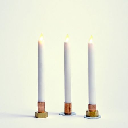 Brass and Copper candle holder