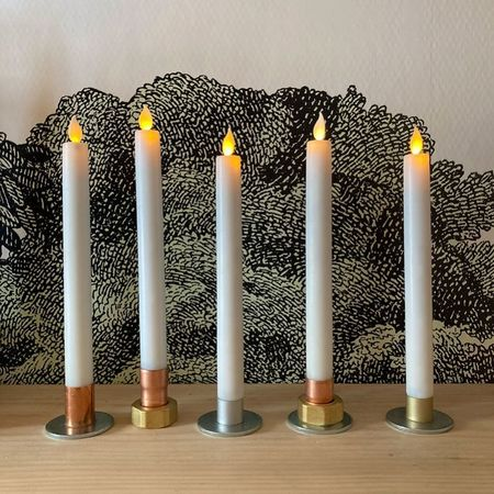 Steel and Copper candle holder