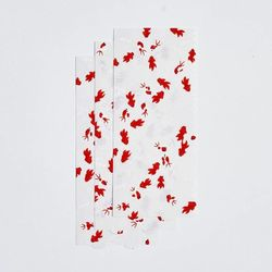 3 festoon candle holders in Japanese paper - Red Wave