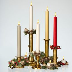 LED white wax taper candle - H 25CM