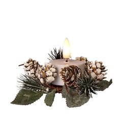 Small Christmas wreath for candles - Green