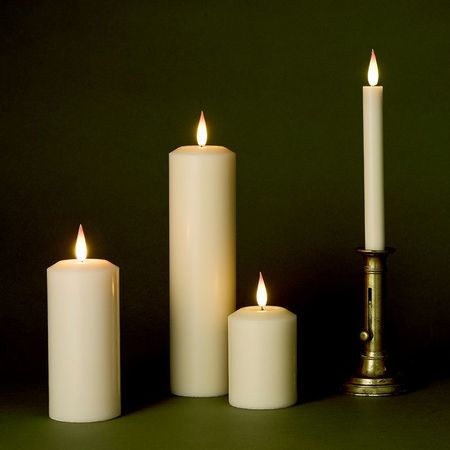 High-end LED wax candle - H14CM