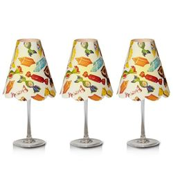 3 lampshades for wine glass - candies