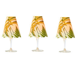 3 lampshades for wine glass - Fern