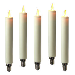 5 LED moving flame taper candles