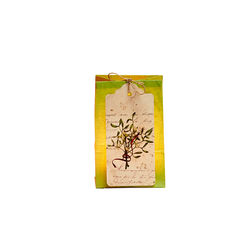 The vegetable paper lantern with LED candle – white and mistletoe