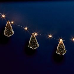 20 LED stars string with Christmas tree tags - Flowers - for DIY