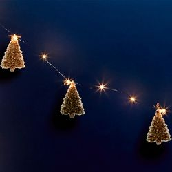 20 LED stars string  with Christmas tags - Fruits - for DIY
